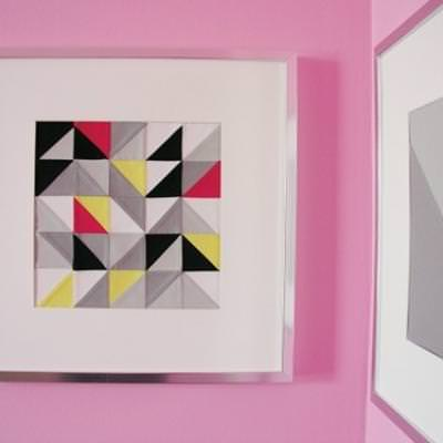 Triangle Patchwork Art {Patchwork}