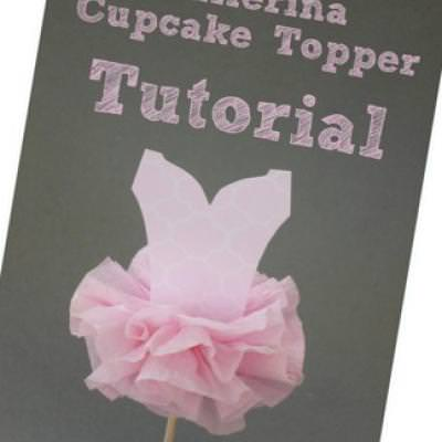 Tutu Ballerina Cupcake Toppers {Cupcake Toppers}
