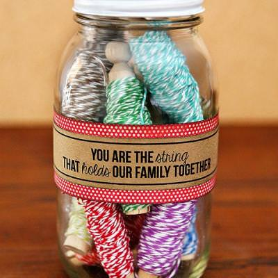 Twine Gift in a Jar {free printable}