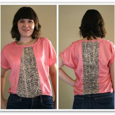 Two Tone Blouse Pattern {Tops} | Tip Junkie