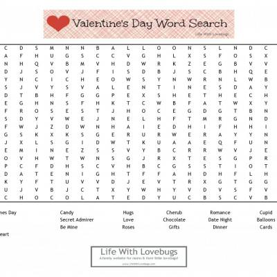 Valentine Word Search Printable {Valentine's Day Games}