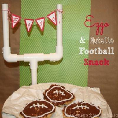 Waffle Nutella Football Snacks {food crafts for kids}