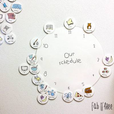 Wall Clock Scheduler for Kids {Teaching Time Management}