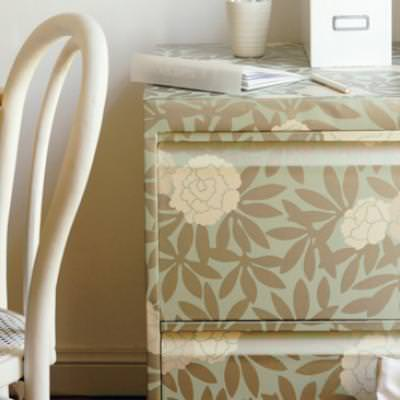 Wallpapering a Filing Cabinet {Armoires & Cabinets}