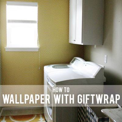 Wallpapering with Gift Wrap {Wallpaper}