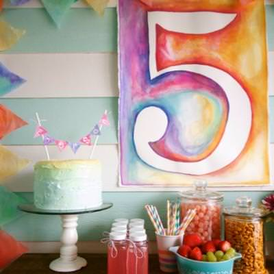 Watercolor Party {art inspired party}