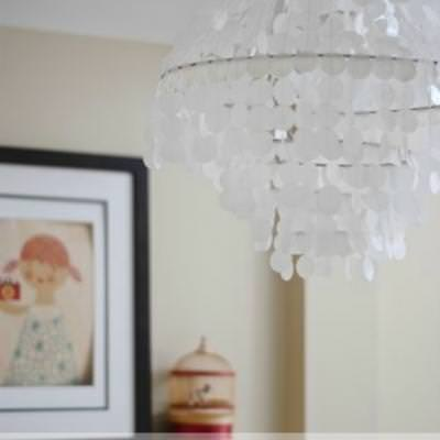 West Elm Inspired Capiz Shell Chandelier {Lighting}