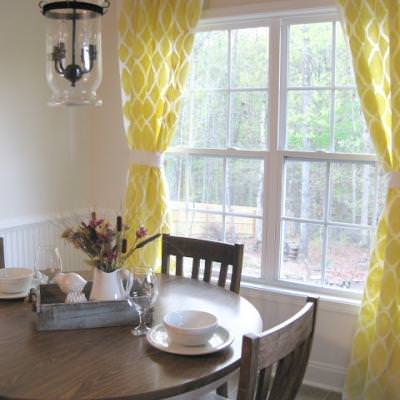 West Elm Inspired Stenciled Curtains {Drapes}