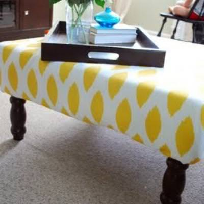 West Elm Inspired Upholstered Ottoman {Ottomans & Stools}