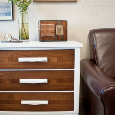 White and Wood Chest {Chests and Consoles}