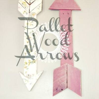 Wood Pallet Arrows {DIY Decor}