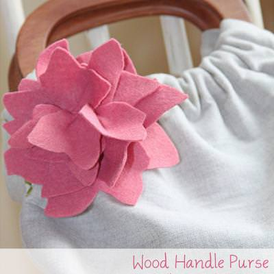 Wooden Handle Purse Tutorial {Handbags}