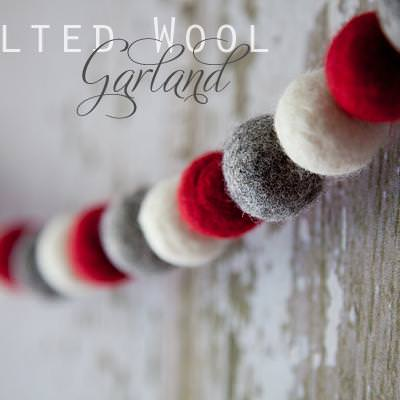 Wool Holiday Garland {Christmas DIY}