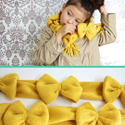 Wrapped in Bows Scarf Tutorial {Accessories}