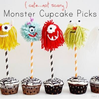 Yarn Monster Cupcake Toppers