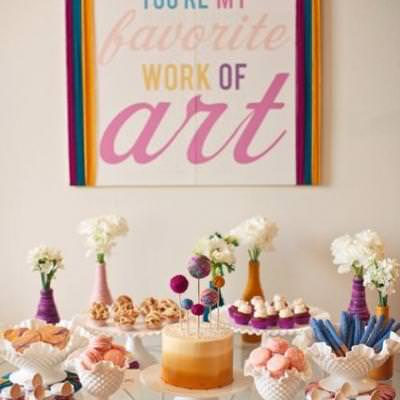 You're My Favorite Work of Art {hosting a baby shower}