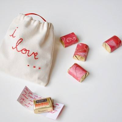 Chocolate Love Notes For You Valentine  {Edible Valentines Gifts}