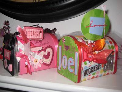 Embellished Valentine Boxes {paper craft}