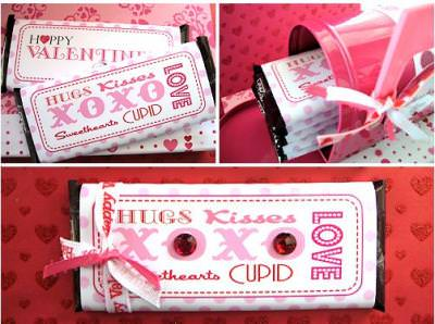 {Free Printable} Valentine Candy Bar Wrapper