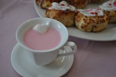 Love Buns and Pink Hot Chocolate