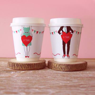 Love Coffee Cup Wrappers {DIY Valnetines Gift}