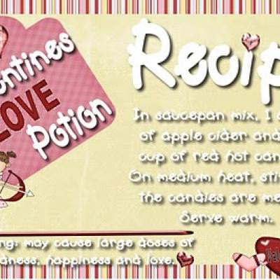 Love Potion with Printable Label {candy gram}