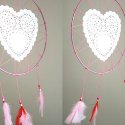 Valentine Doily Dreamcatcher {Valentine Day Project}