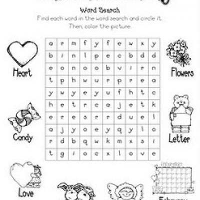 Valentine's Day Word Search {Valentines Day Worksheet}